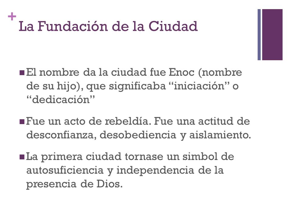 La Fundación de la Ciudad