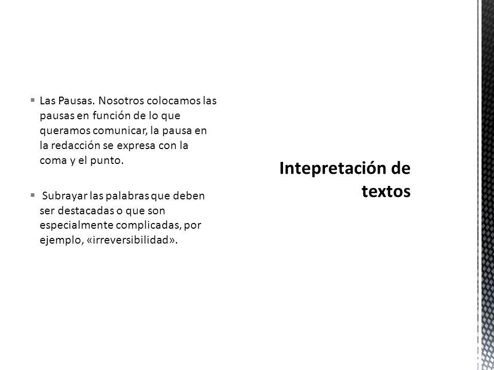Intepretación de textos