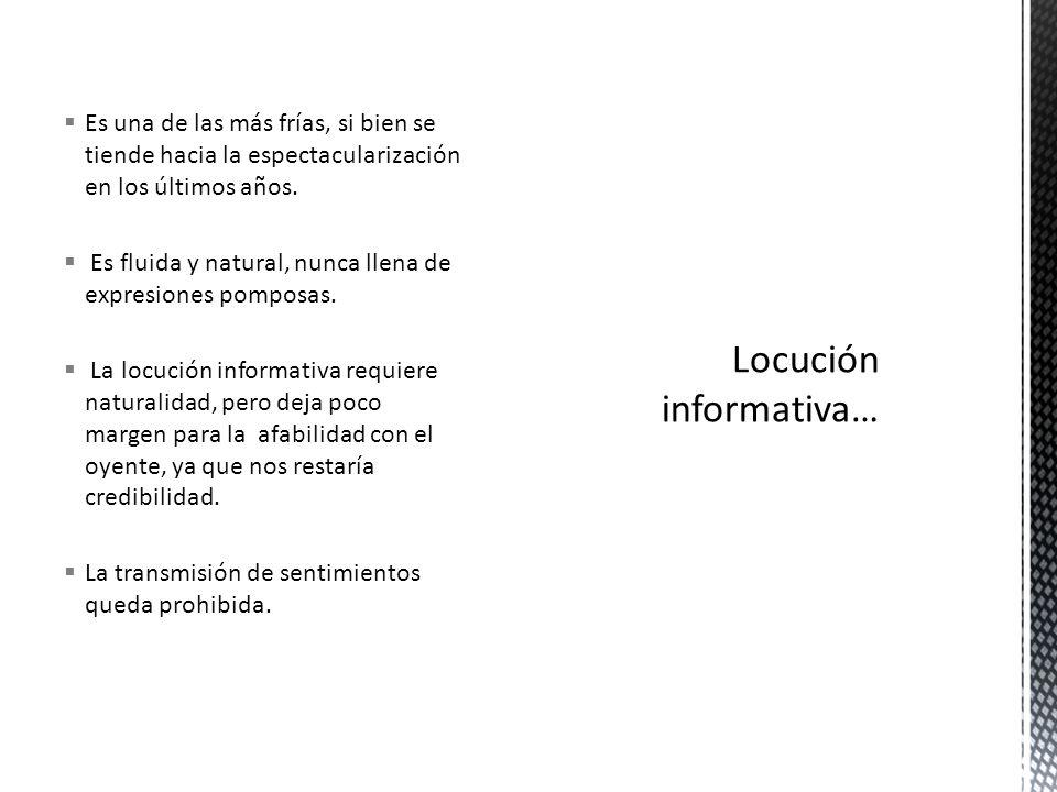 Locución informativa…