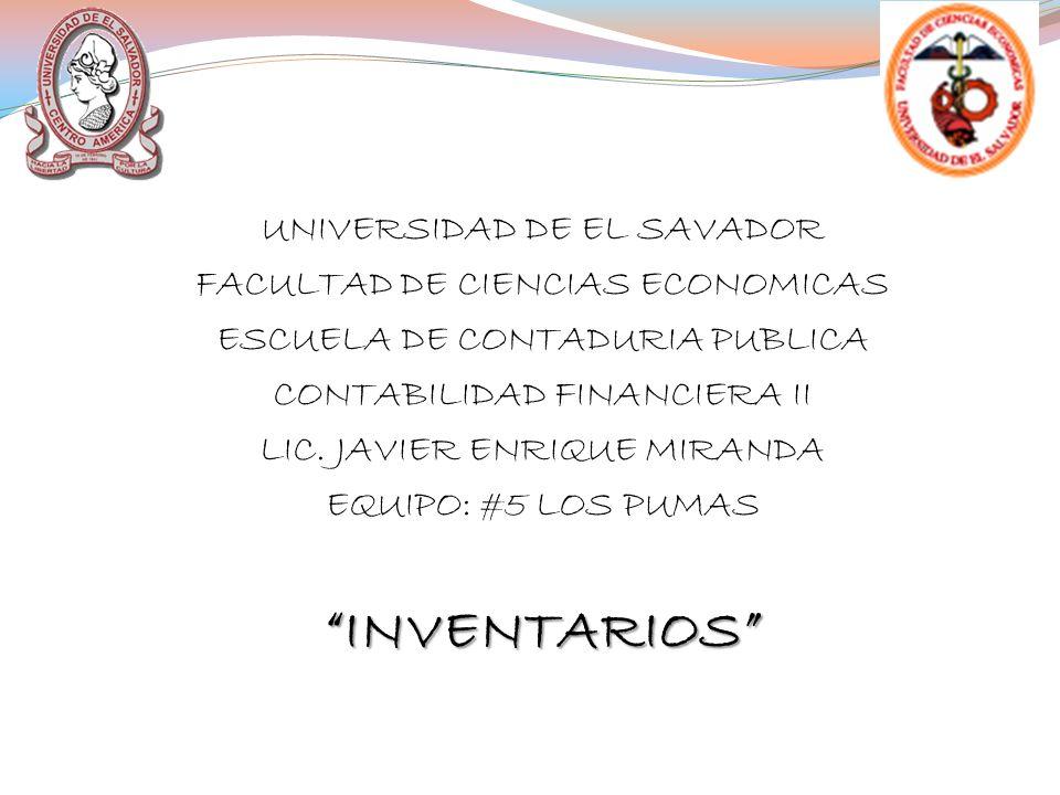 INVENTARIOS UNIVERSIDAD DE EL SAVADOR