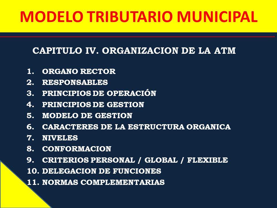 MODELO TRIBUTARIO MUNICIPAL