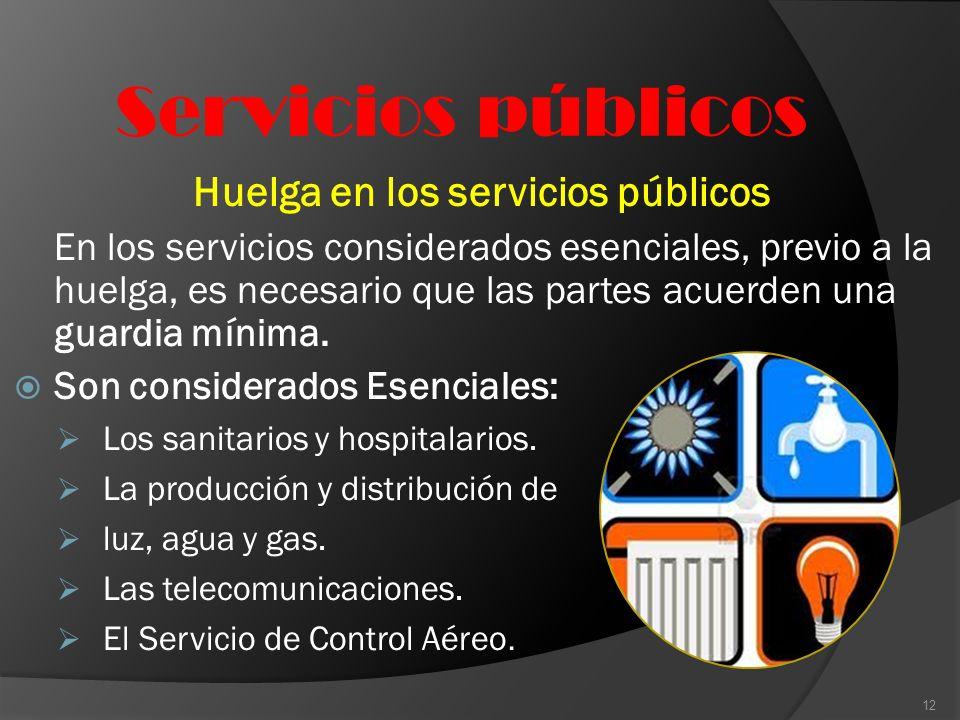 Huelga en los servicios públicos