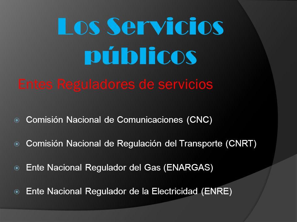 Entes Reguladores de servicios