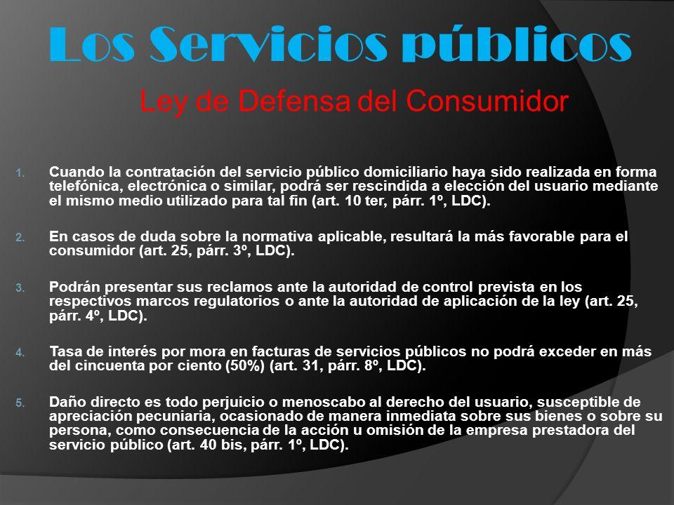 Los Servicios públicos