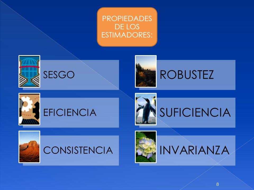 PROPIEDADES DE LOS ESTIMADORES: