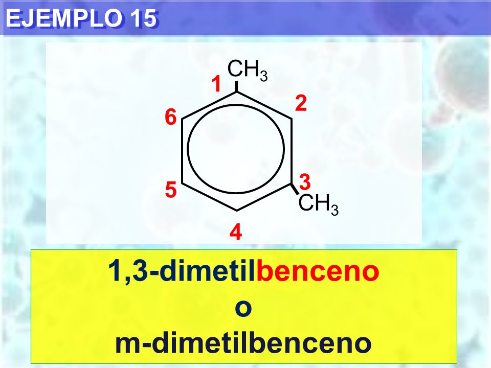 1,3-dimetilbenceno o m-dimetilbenceno