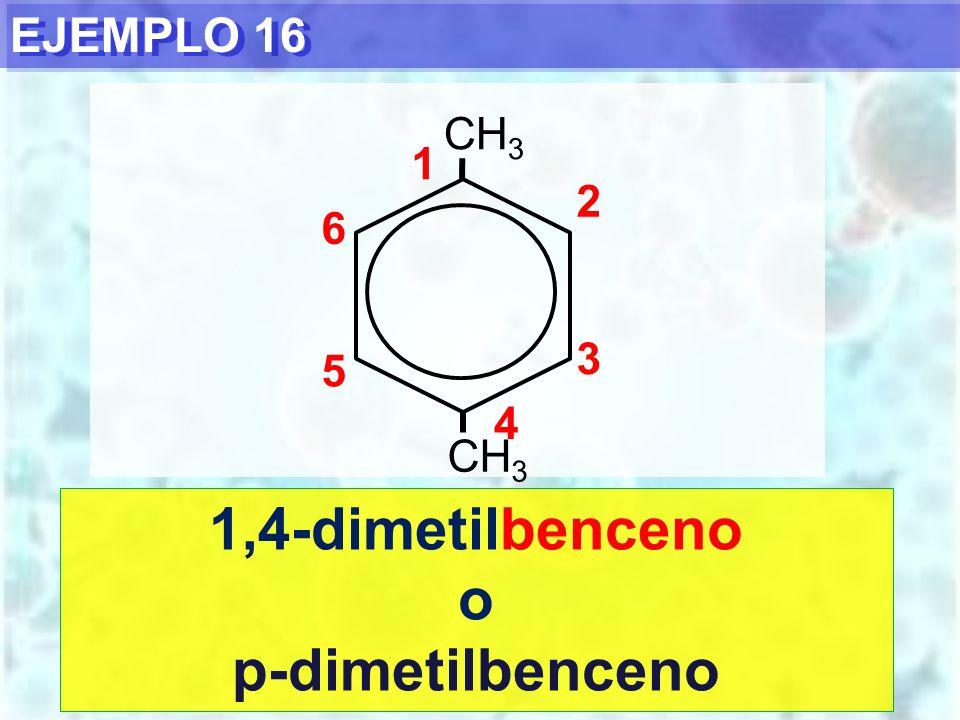 1,4-dimetilbenceno o p-dimetilbenceno