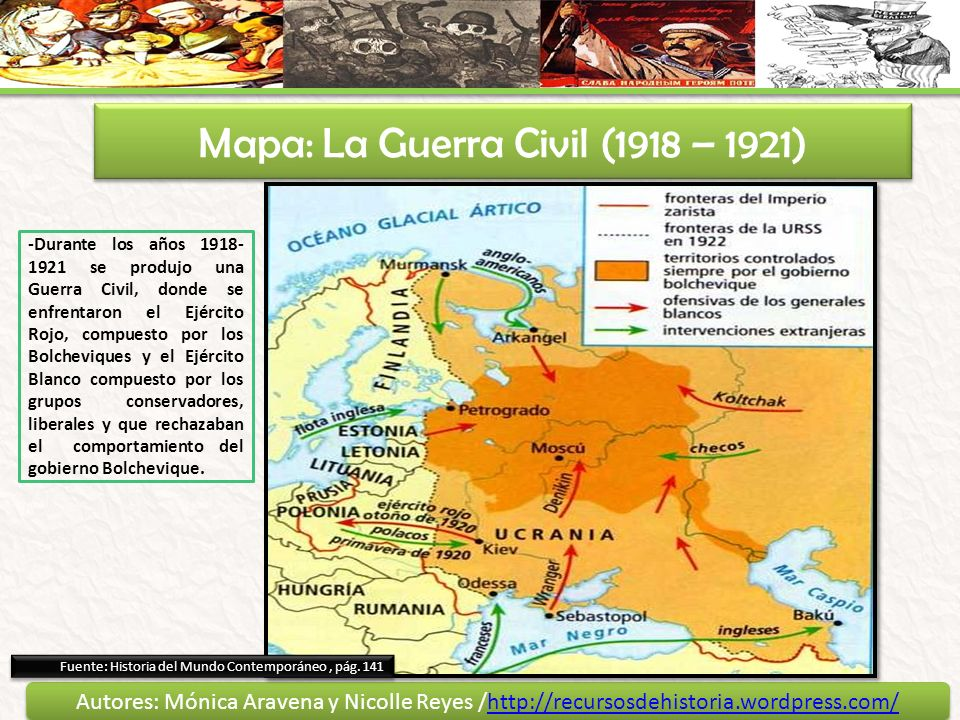 Mapa: La Guerra Civil (1918 – 1921)