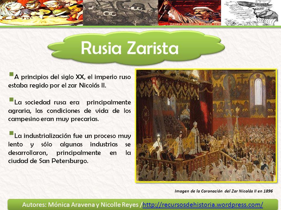 Rusia Zarista A principios del siglo XX, el imperio ruso estaba regido por el zar Nicolás II.