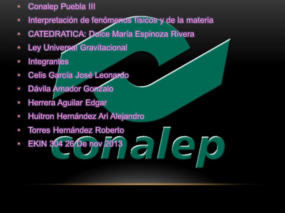 Conalep Puebla III Interpretación de fenómenos físicos y de la materia. CATEDRATICA: Dulce María Espinoza Rivera.