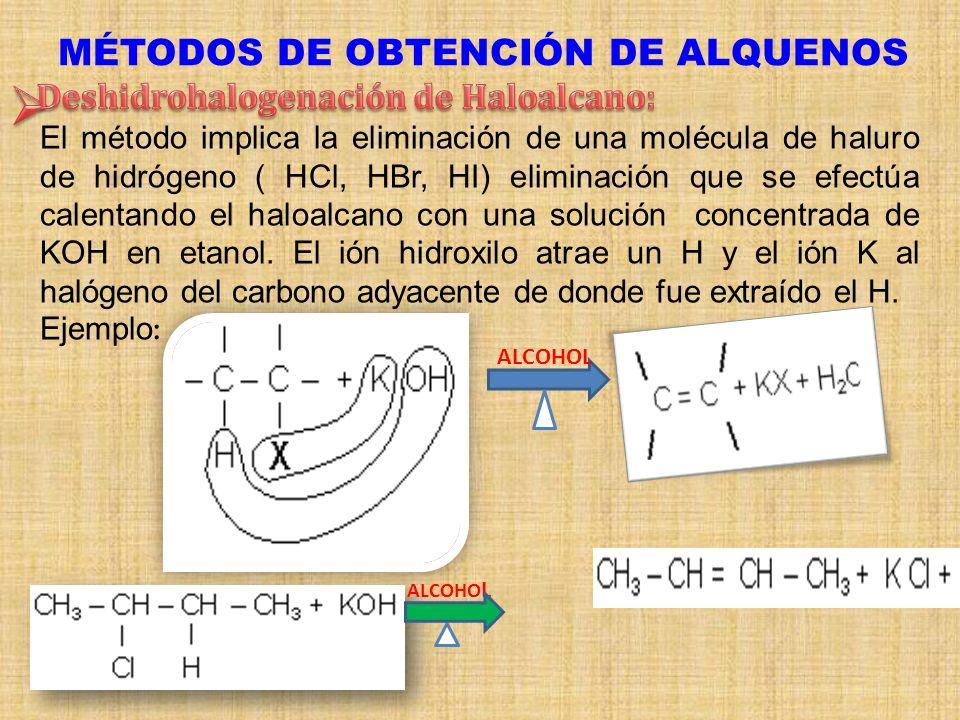 MÉTODOS DE OBTENCIÓN DE ALQUENOS