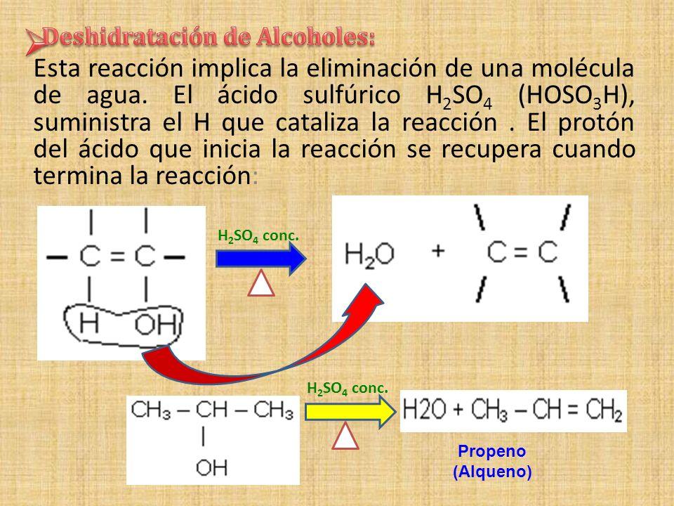 Deshidratación de Alcoholes: