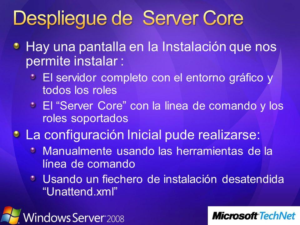 Despliegue de Server Core