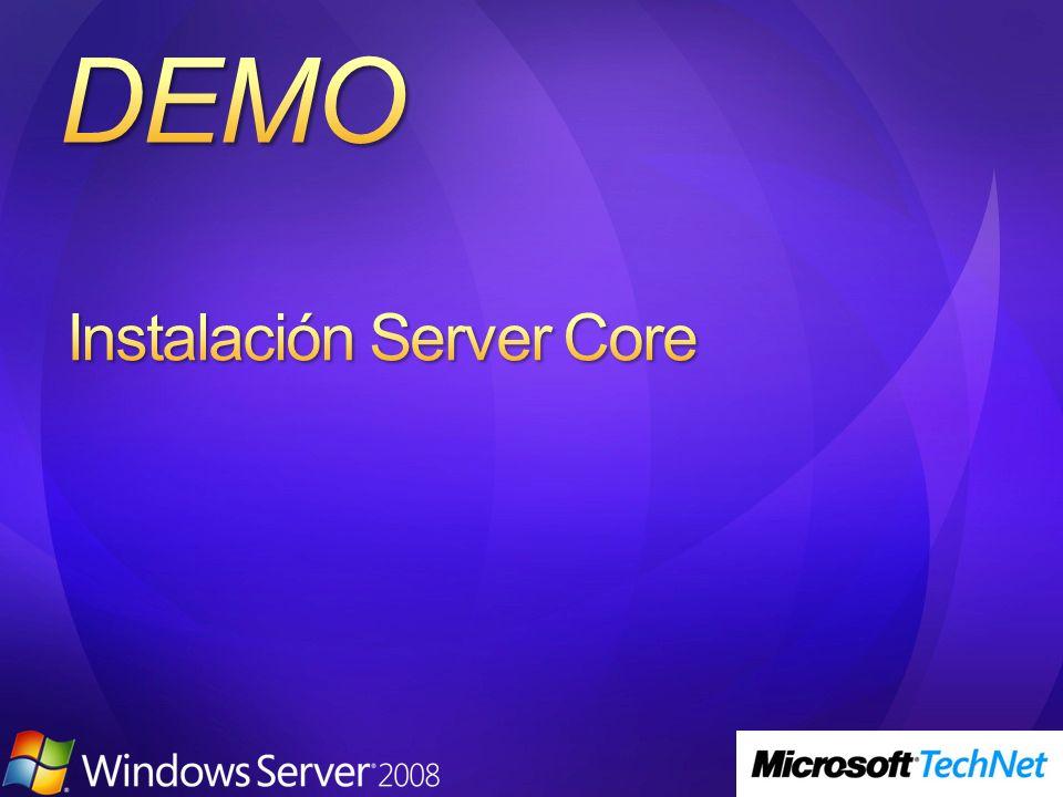 Instalación Server Core
