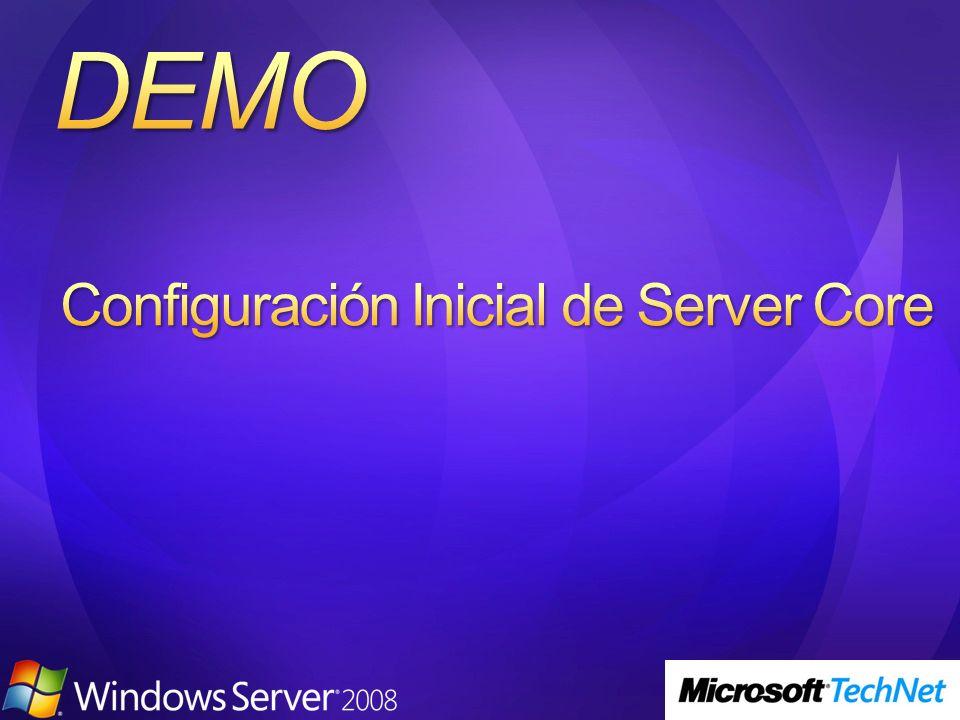 Configuración Inicial de Server Core