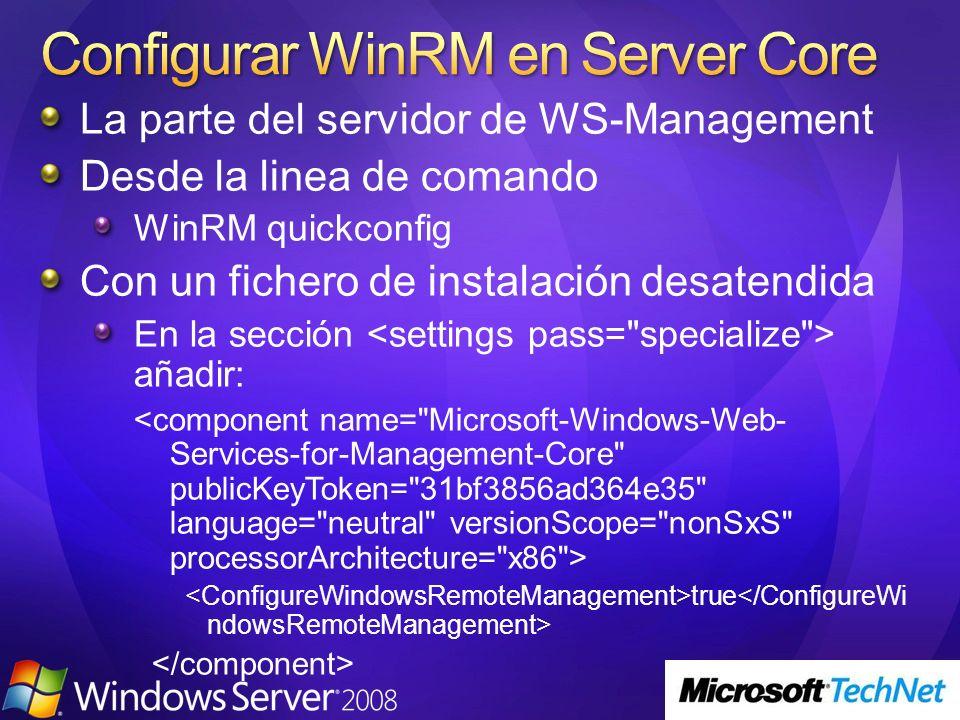 Configurar WinRM en Server Core