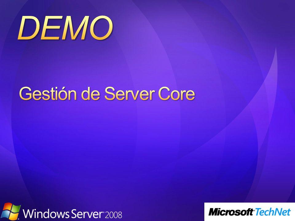 Gestión de Server Core