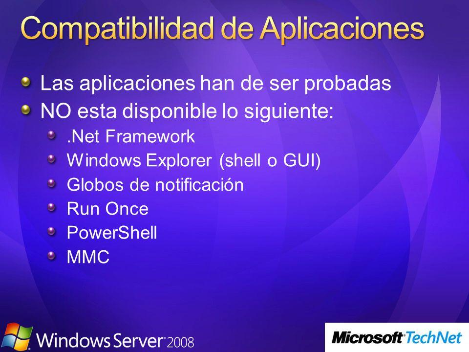 Compatibilidad de Aplicaciones