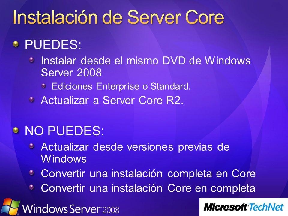 Instalación de Server Core
