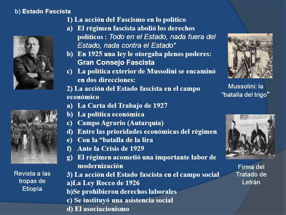 1) La acción del Fascismo en lo político