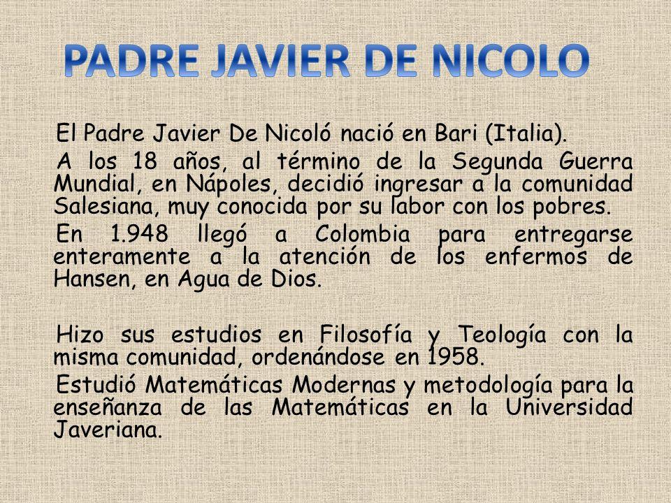 PADRE JAVIER DE NICOLO
