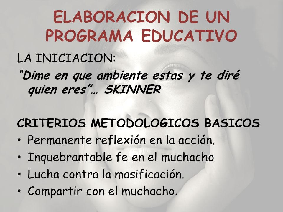 ELABORACION DE UN PROGRAMA EDUCATIVO