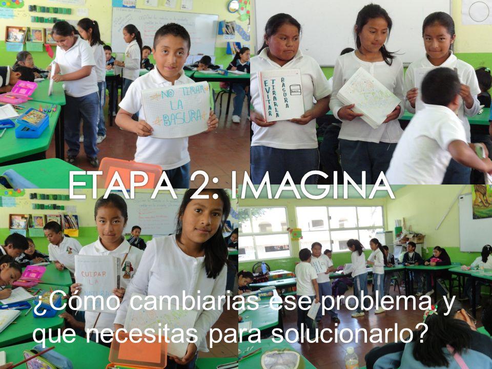 ETAPA 2: IMAGINA ¿Cómo cambiarias ese problema y que necesitas para solucionarlo