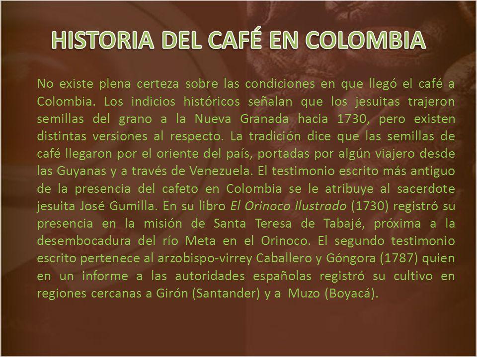 HISTORIA DEL CAFÉ EN COLOMBIA