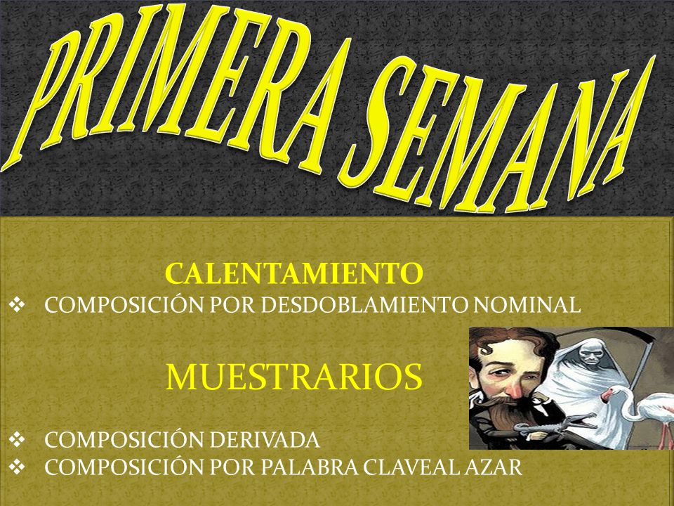 PRIMERA SEMANA MUESTRARIOS CALENTAMIENTO