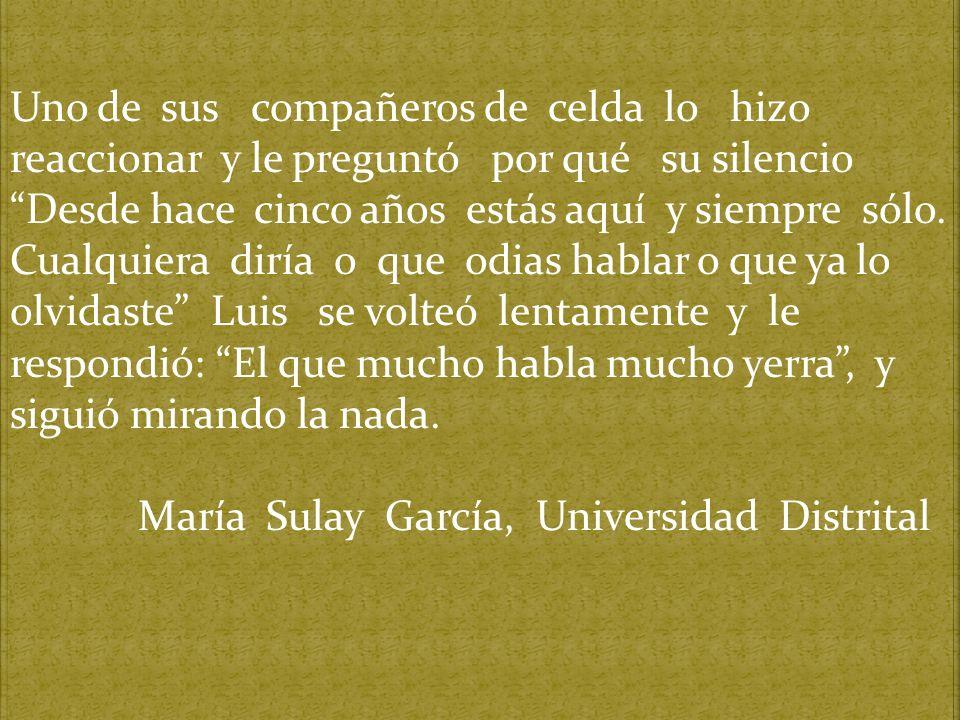 María Sulay García, Universidad Distrital