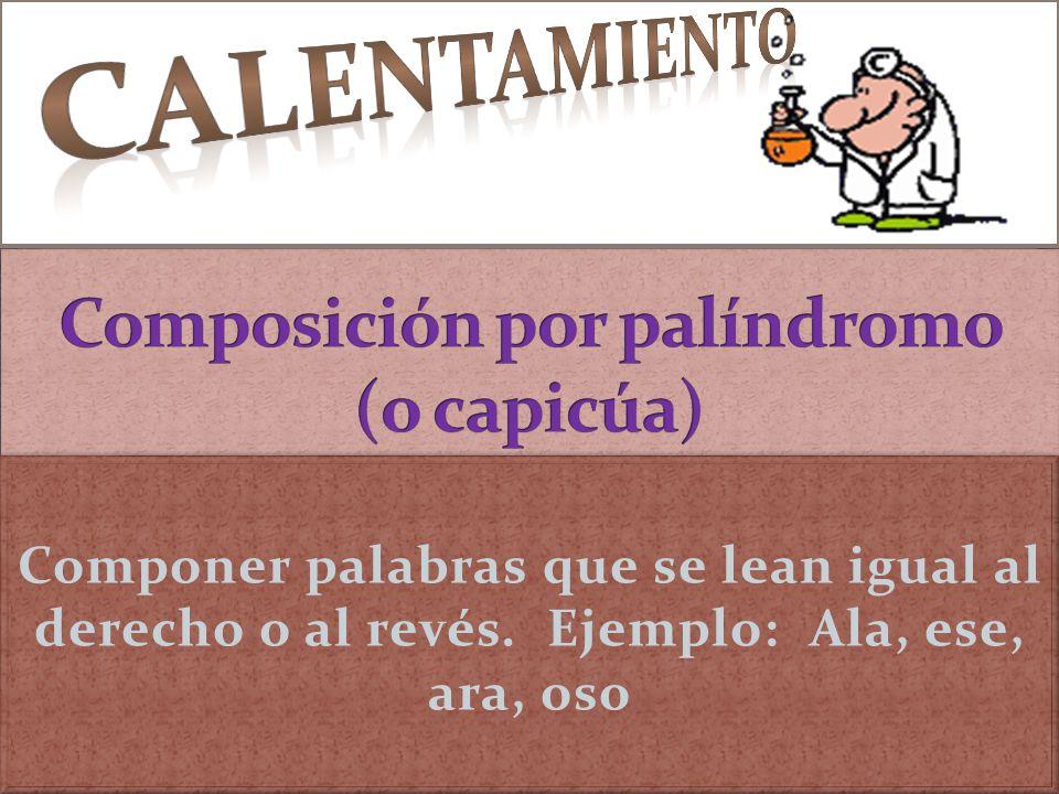 Composición por palíndromo (o capicúa)