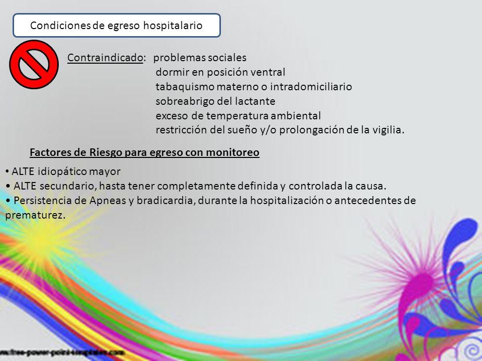 Condiciones de egreso hospitalario