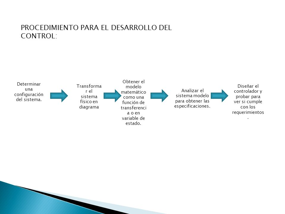 PROCEDIMIENTO PARA EL DESARROLLO DEL CONTROL: