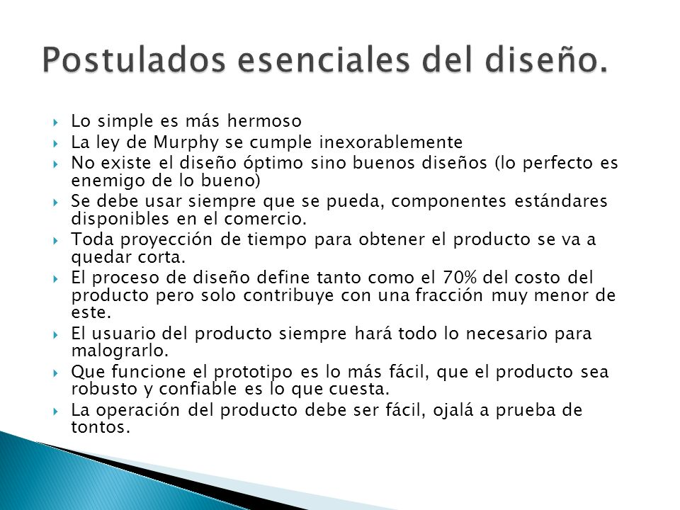 Postulados esenciales del diseño.