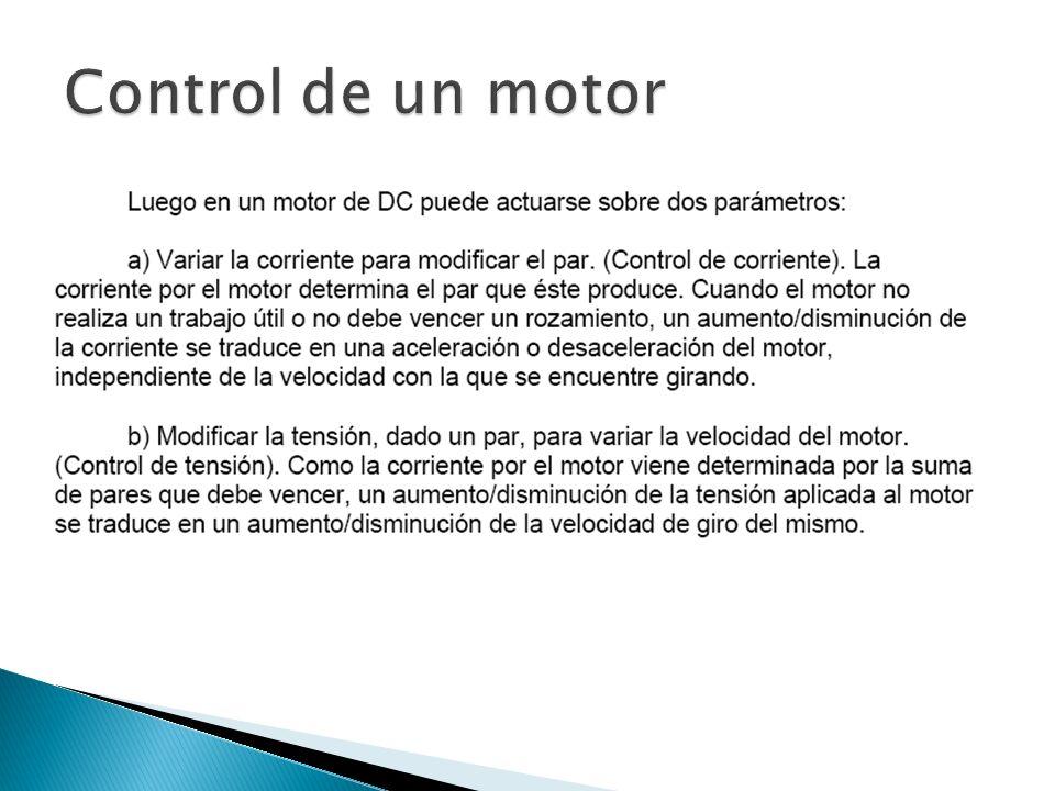 Control de un motor