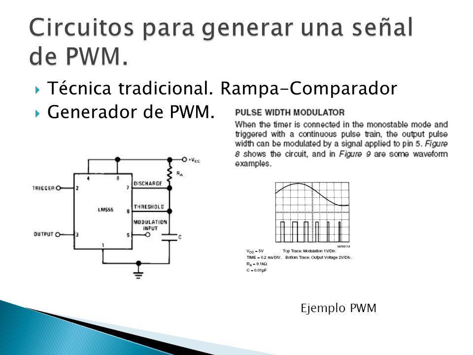 Circuitos para generar una señal de PWM.
