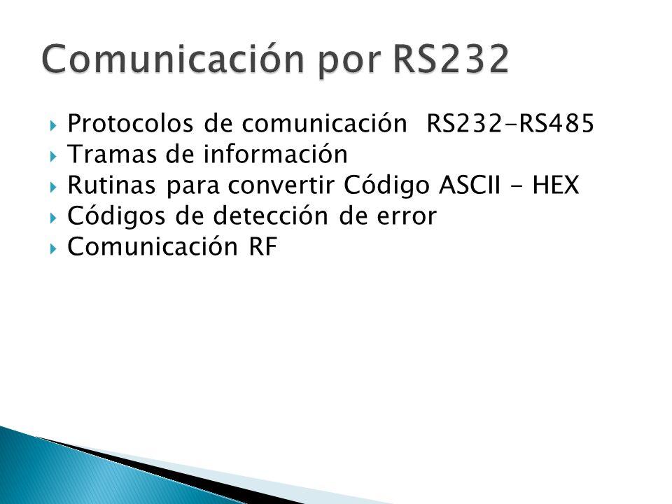 Comunicación por RS232 Protocolos de comunicación RS232-RS485