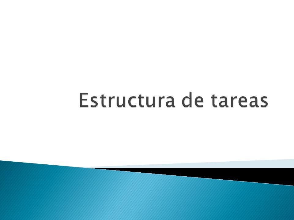 Estructura de tareas