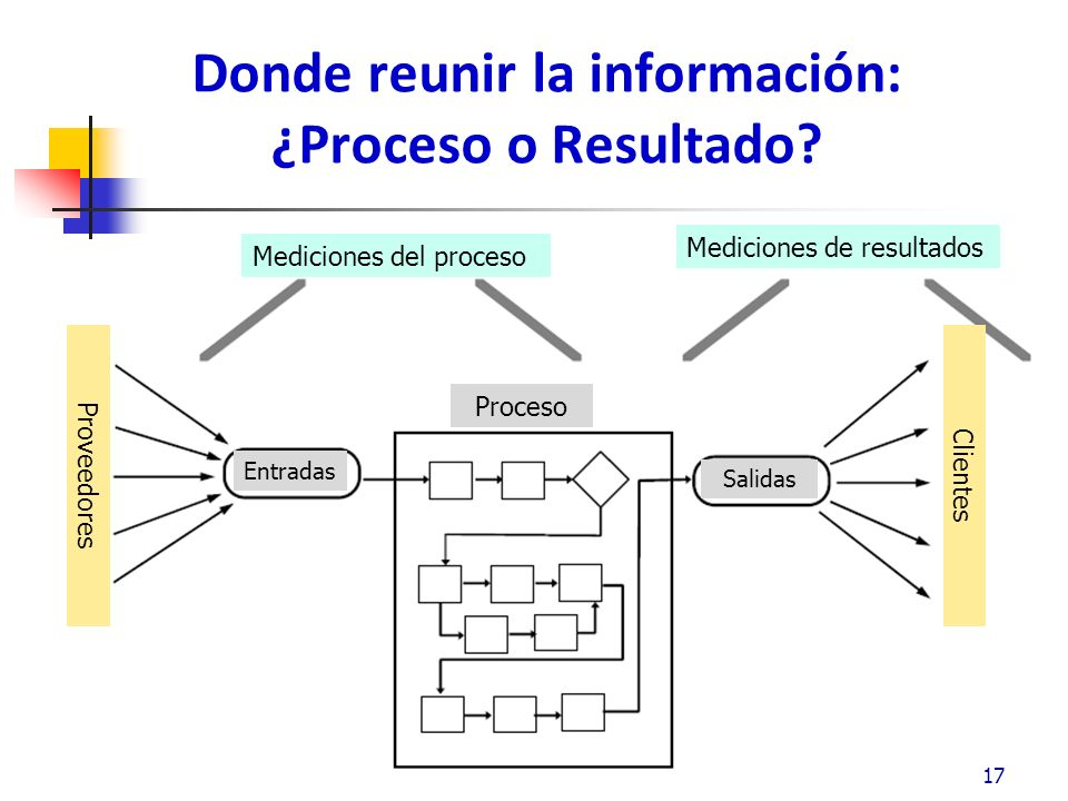 Donde reunir la información: ¿Proceso o Resultado