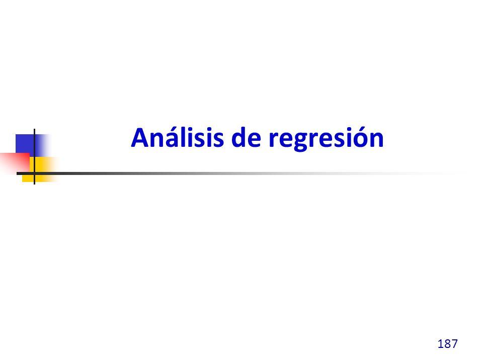 Análisis de regresión