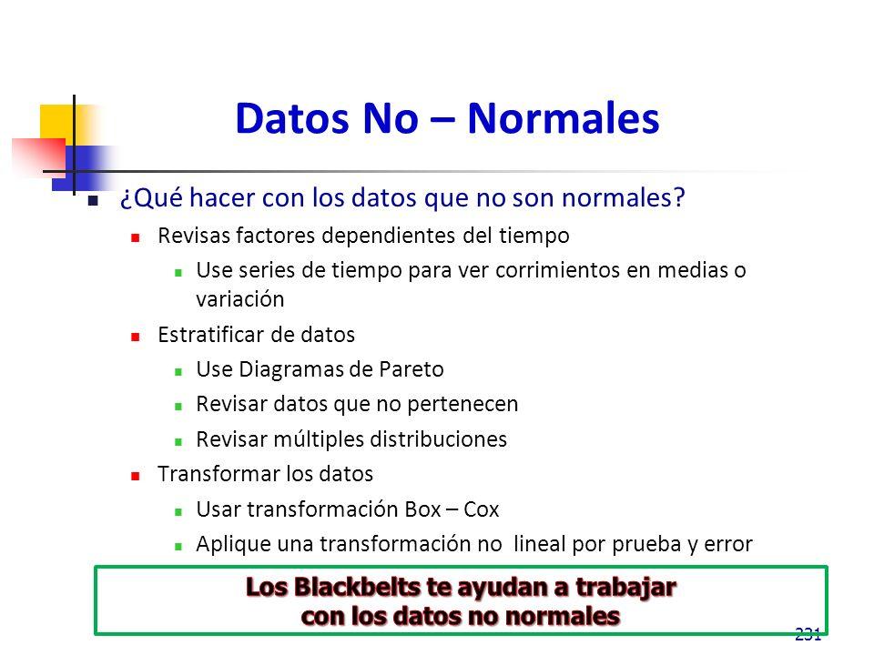 Los Blackbelts te ayudan a trabajar con los datos no normales