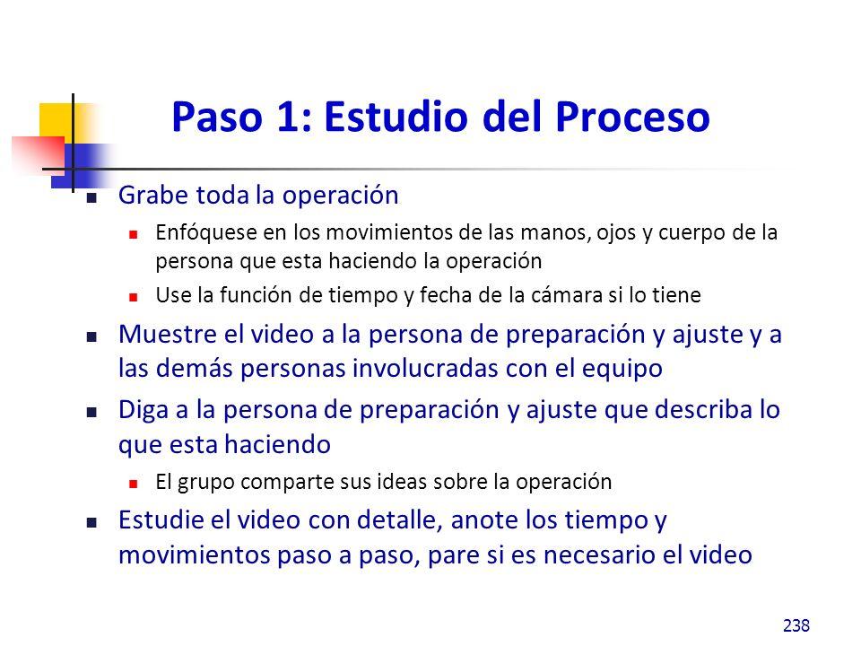 Paso 1: Estudio del Proceso