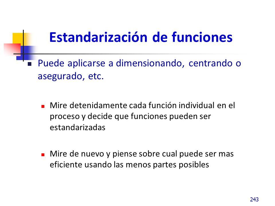 Estandarización de funciones