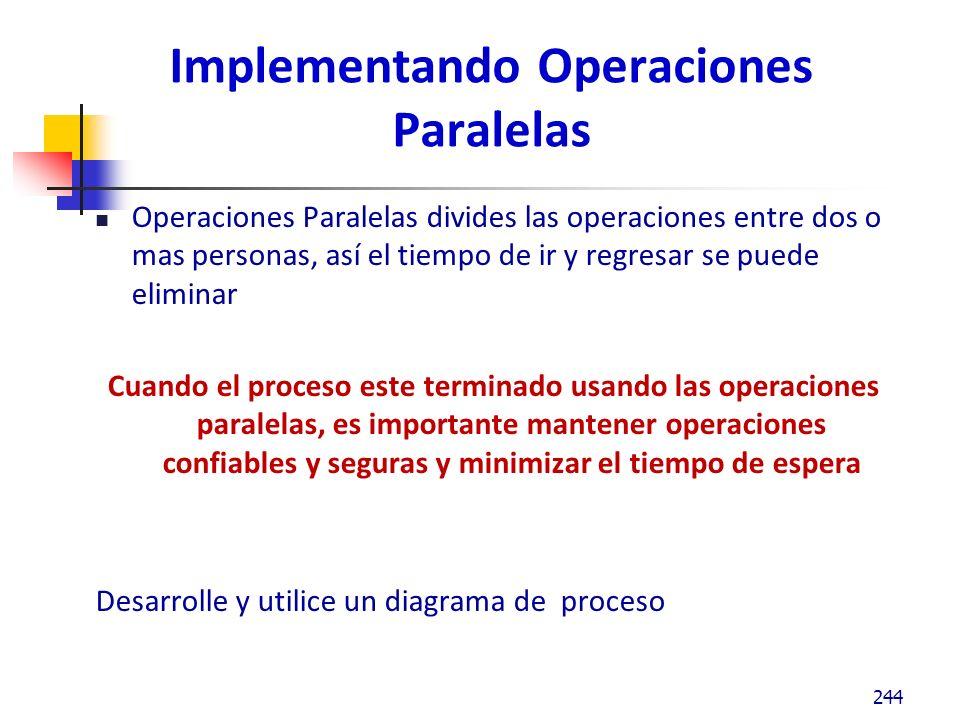 Implementando Operaciones Paralelas
