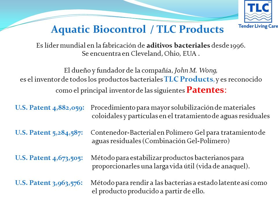 Aquatic Biocontrol / TLC Products