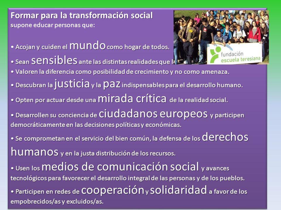 Formar para la transformación social