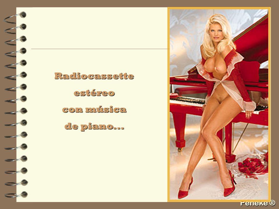 Radiocassette estéreo con música de piano...