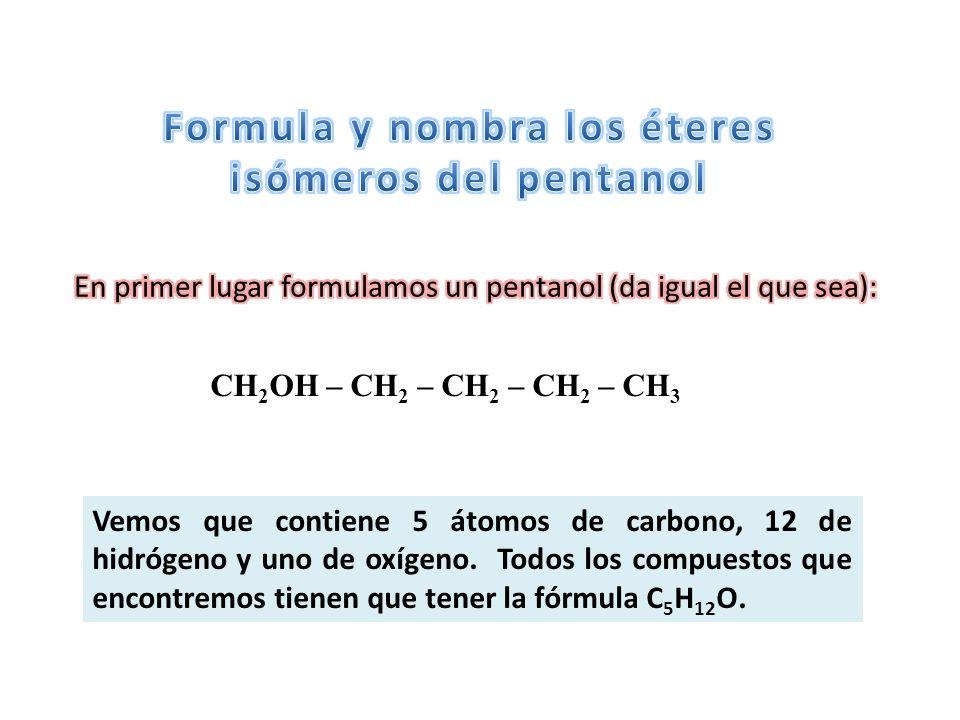 Formula y nombra los éteres