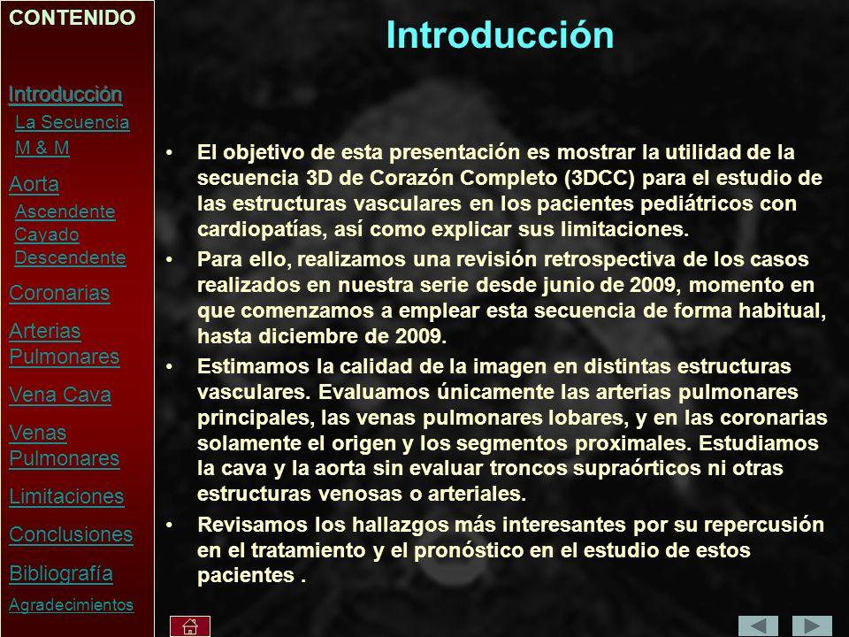 Introducción CONTENIDO Introducción La Secuencia M & M Aorta