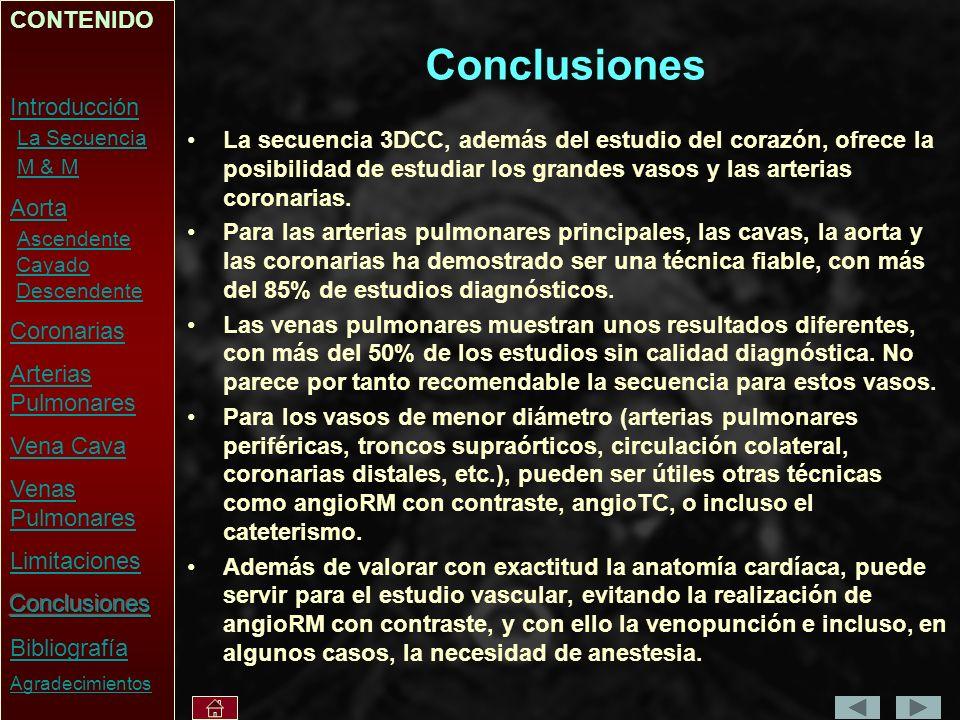 Conclusiones CONTENIDO Introducción La Secuencia M & M Aorta